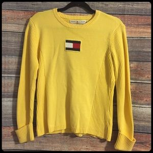 Vintage Tommy Hilfiger yellow logo sweater